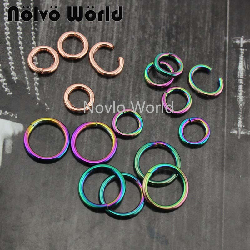 20 Pieces Test, Inner Width 5.6mm,9.5mm, Metal  O Ring Bag Handle Iron Wire Circle Women Handbag Buckle Hardware Accessories