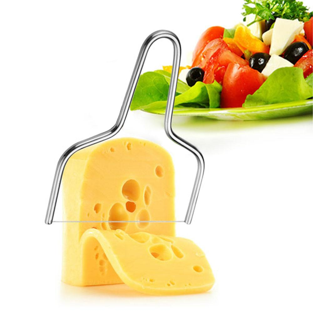 Stainless Steel <font><b>Cheese</b></font> <font><b>Slicer</b></font> Butter <font><b>Cheese</b></font> <font><b>Slicer</b></font> Tool Cutting Board <font><b>Wire</b></font> Cutter Kitchen Tools DIY Eco-friendly Accessories image