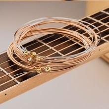 GSA-010 6 unids/lote cuerdas de guitarra de alta calidad acústica de acústico de madera de las guitarras de bajo a accesorios musicales