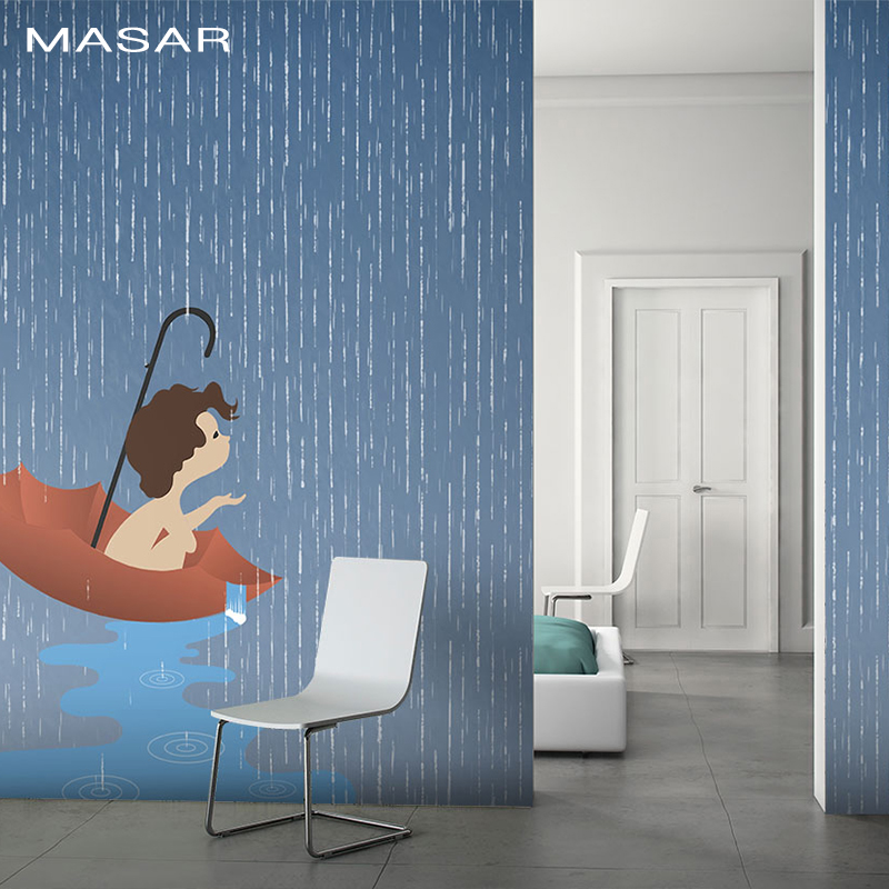 MASAR Creative Character Murals, Red Umbrellas, Innocent, Lovely Bedrooms, Living Rooms, Background Wallpaper Funny
