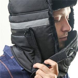 Image 3 - ฤดูหนาวหมวกผู้หญิงหมวกผ้าพันคอ Anti Haze รัสเซีย Ushanka ความร้อนหมวก Trapper Trooper Earflap สกีหิมะ balaclava