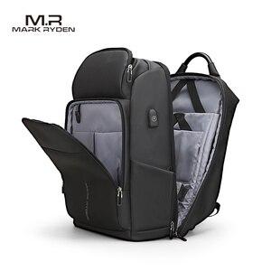 Image 1 - Mark Ryden Männer Rucksack Multifunktions USB Lade 15,6 inch Laptop Tasche Große Kapazität Wasserdichte Reisetaschen Für Männer
