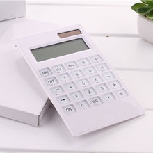 Portable Solar Powered Calculator Screen 12 Digit Large LCD Display for Office Daily Use LHB99 centechia useful lcd 8 digit touch screen ultra slim transparent solar calculatorstationery clear scientific calculator office