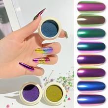 Glitter-Powder Pigment Chorme Metallic Chameleon Nail-Mirror Diy-Accessories Dust-Decoration