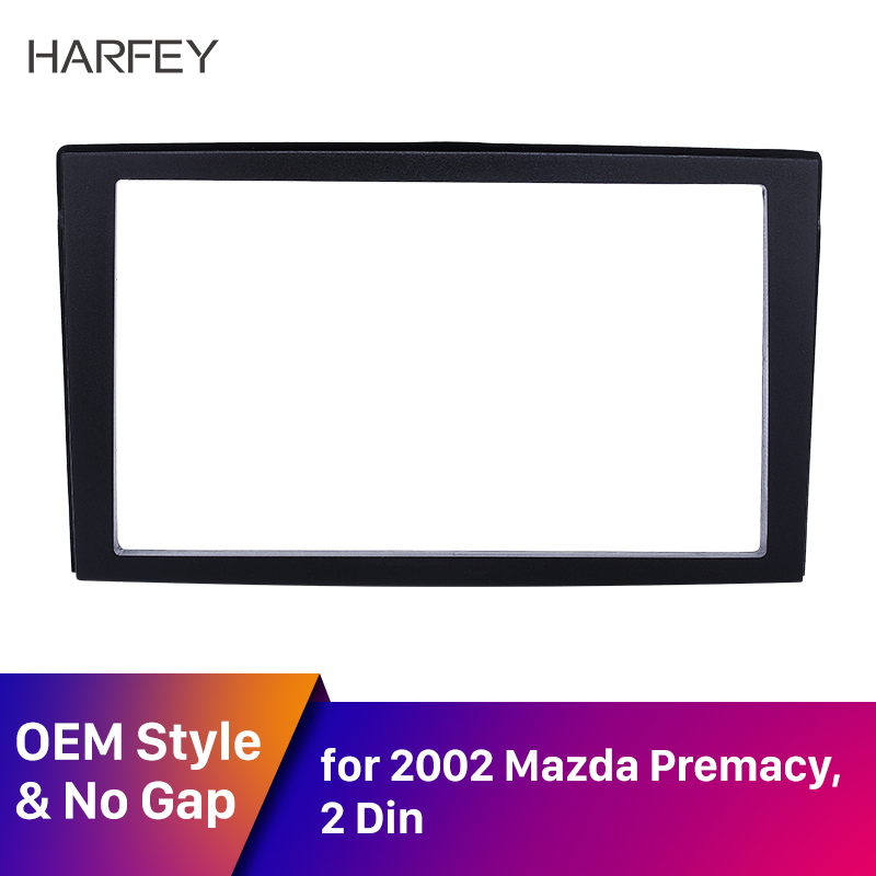 Harfey Car Trim <font><b>Kit</b></font> <font><b>Radio</b></font> Framefor 1999 2000 2001 2002 2003 2004 <font><b>Mazda</b></font> Premacy <font><b>Dash</b></font> Player Auto Mount Installation Surround image