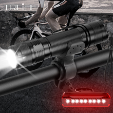 Powerful Bicycle 1000 Lumens 4 Modes XM-L2 LED Built-in Battery Cycling Front Bike Light USB Rechargeable Built-in 18650 Battery wosawe 2400 lumens bicycle light with 18650 built in batteries usb rechargeable bike light 2 xml led lamp flashlight 5 modes