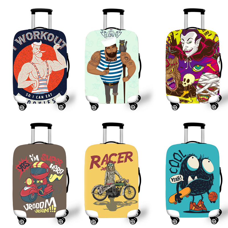 Elastic Luggage Protective Cover Case For Suitcase Protective Cover Trolley Cases Covers 3D Travel Accessories Cookies Pattern T