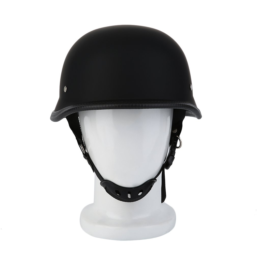 Newest M/L/XL Motorcycle Helmet Matte Black German Style Vintage Durable Half Face German Helmet Motorcycle Helmet Hot Selling