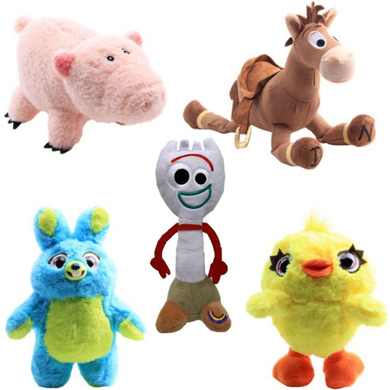 Pixar Toy Story 4 Anime Forky Bunny Woody Stuffed Doll Cartoon Plush Toys Kids Christmas Gift 5pcs/lot