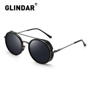 Image 1 - Retro Teampunk Round Sunglasses for Women Men Double Bridge Metal Frame Sun Glasses