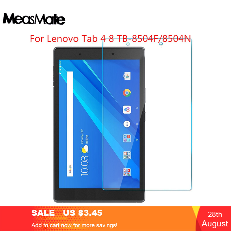 9H NEW Clear Tempered Glass For Lenovo Tab 4 8 10 Plus Screen Protector For Lenovo Tab 4 10 8 Plus 8