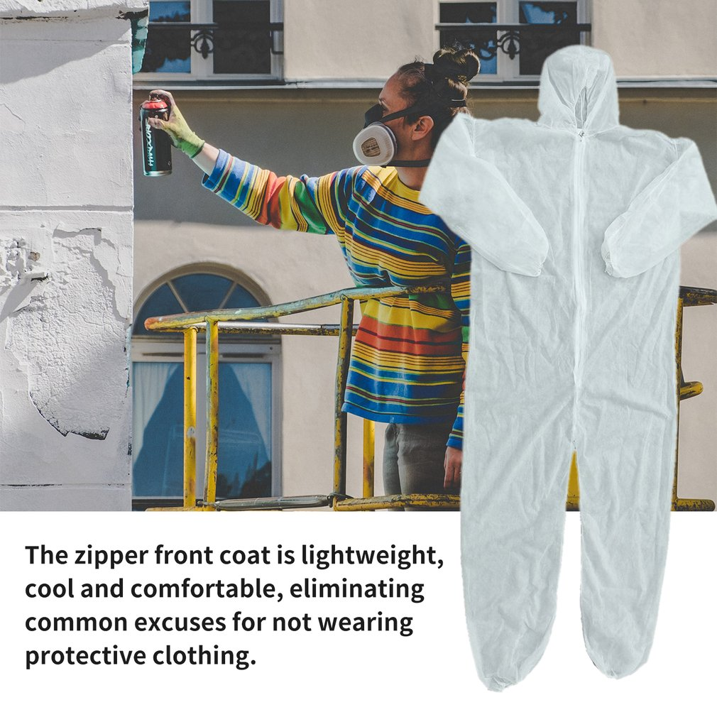 Security Protection Clothes Disposable Coverall Dust-proof Clothing Isolation Clothes Labour Suit One-pieces Nonwovens 2020