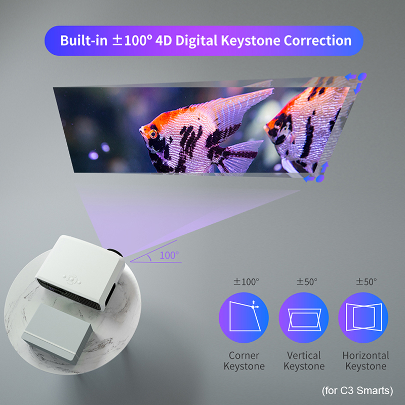 Wzatco c3 novo projetor led android 10.0 wi fi completo hd 1080p 300 polegada grande tela proyector 3d cinema em casa inteligente vídeo beamer-5