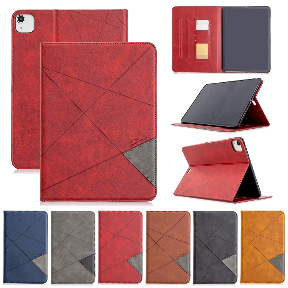 Holder 12.9 Pro 2020 With For Wallet Back Leather Cover Silicone iPad PU 2018 Case Soft