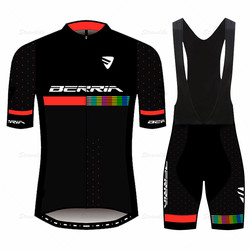 BERRIA team Goodbik summer cycling clothes men's short-sleeved breathable and quick-drying road bike jersey mountain bike shirt