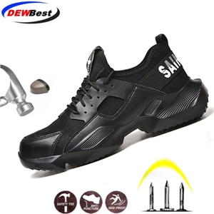 Image 2 - Dewbest 불멸의 라이더 신발 남성과 여성 강철 발가락 공기 안전 부츠 펑크 방지 작업 스니커즈 통기성 신발