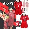 Кошмарным! Nekoma высокий школьный Косплей Костюм No1 Tetsurou Kuroo No 5 Kenma Kozume Косплей Спортивная одежда Униформа волейбольная форма