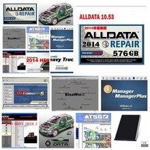 Heißer verkauf Alldata 10,53 mitchell ondemand 2015 Schwere Lkw AutoData Lebendige atsg ElsaWin alle daten Auto reparatur software 24 in 1TB hdd