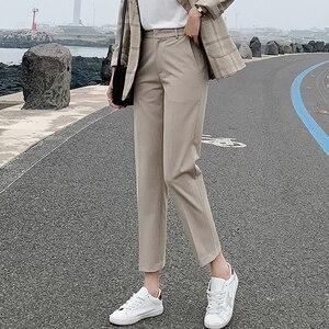 Image 2 - BGTEEVER OL Style Women Pants Plus Size Casual Pencil Pant High Waist Elegant Work Trousers Female Suit Pant pantalon femme 2019