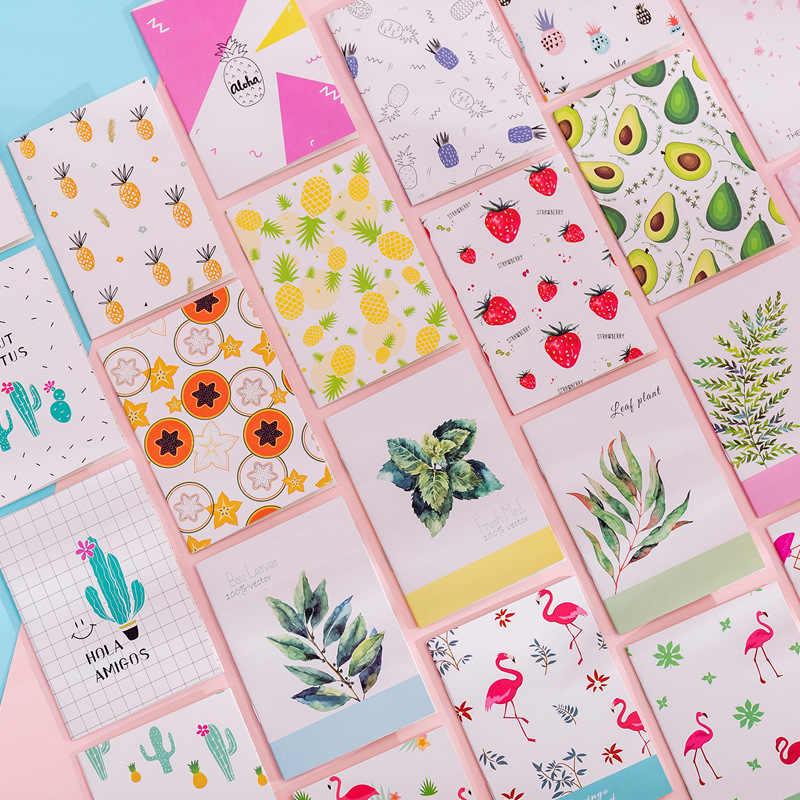 1 Uds. Cuaderno de frutas y flamencos portátil, cuaderno de Cactus, bonito diario, agenda kawaii, diario, papelería, regalo escolar
