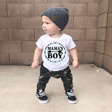 Summer Newborn Baby Boys Clothing Set Short Sleeve Tops  T-shirt Camouflage Pants Outfits 2pcs Set Baby Boy Clothes newborn infant baby boys girls clothes set t shirt tops short sleeve pants cute outfits clothing baby boy