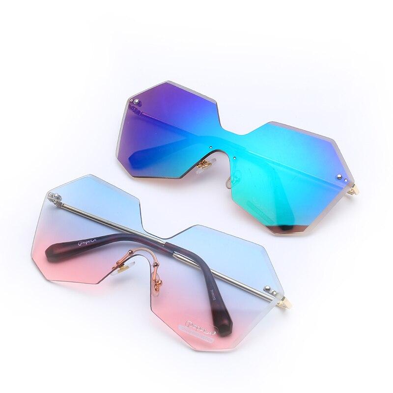 Luxury Rectangular Sunglasses Design Retro Colorful Transparent Fashion Lenses Men And Women Summer Trend