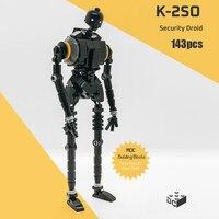 MOC klocki do budowy K-2SO Robot Trooper łotr zabawki figurki akcji budowa seria gwiezdnych Space War prezent dla dzieci