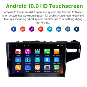 Image 5 - Seicane 10.1 Inch Quad core Android 10.0 Car Radio GPS Navigation Stereo Multimedia Player for 2014 2015 HONDA JAZZ/FIT (RHD)