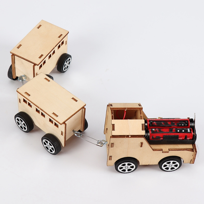 Assembly Toy DIY Model RC Trains Premium Creative Simple Educational Funny Handcraft 3D Puzzle Toy Train for Children