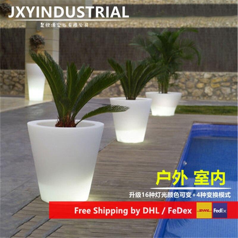 LED Flower Pots / Led Light Flower Pot / Led Light Garden Flower Pot Free Shipping
