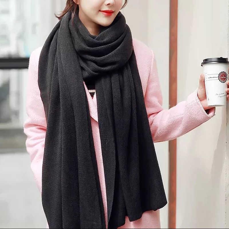 Semplice stile di Autunno Inverno Femminile di Lana Plaid Sciarpa di Cachemire Delle Donne Lunghe Sciarpe Dello Scialle Coperta Calda dropshopping