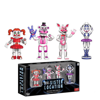 FNAF Five Nights at Freddy's Nightmare Freddy Chica Bonnie Funtime Foxy PVC Action Figures Toys 6pcs/set five nights at freddy s action figure set fnaf with retail box 5cm