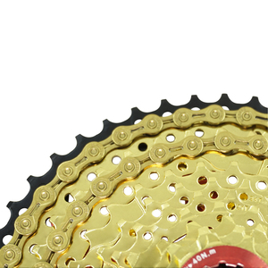 Image 2 - Rookoor Bicycle Chain 6 7 8 9 10 11 Speed Velocidade Titanium Plated TI Gold Silver Mountain Road Bike MTB Chains Part 116 Links