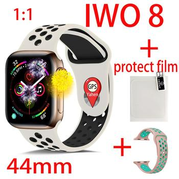 IWO 8 Plus 44mm Watch 4 Heart Rate GPS Smart Watch for apple iPhone Android phone better than watch IWO 8 10 11 smartwrist band