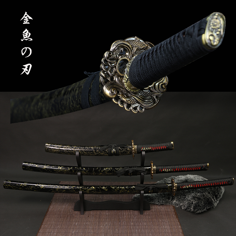 Tanto/Wakizashi/Katana Real Japanese Samurai Swords 9260 Carbon Steel Handforged Blade Full Tang  New Arrival