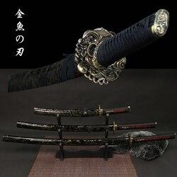 Tanto/Wakizashi/Katana véritables épées de samouraï japonais 9260 acier au carbone forgé à la main lame pleine tang nouveauté