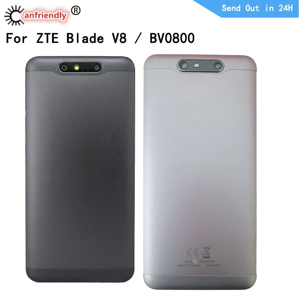 Back Door Housing For ZTE Blade V8 BV0800 Back Housing + Adhesive Panel Plate Battery Cover Shell For ZTE Blade V8 BV0800