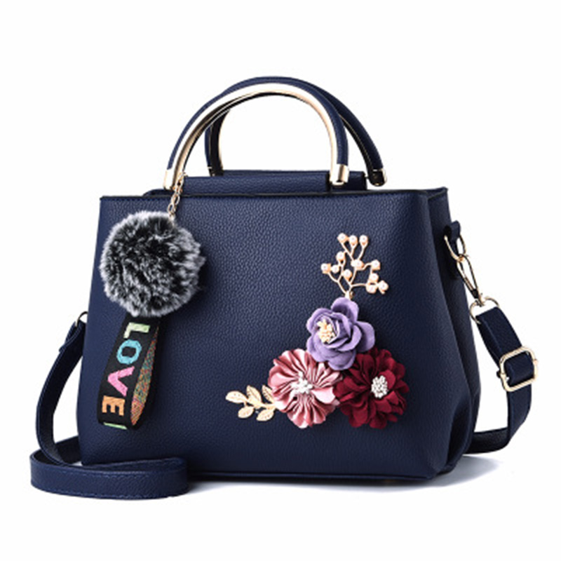 SHUNRUYAN nouvelles femmes sac fleur conception mode décontracté fourre-tout sac à main sac à bandoulière sac à bandoulière fermeture éclair dames sac