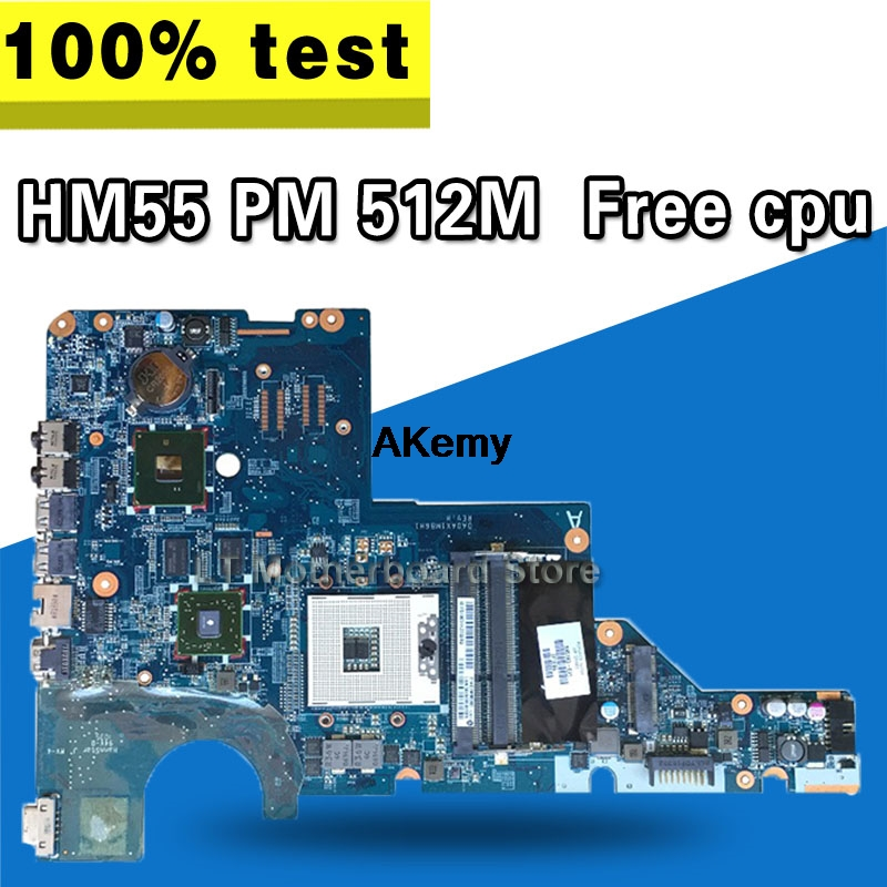 For HP Pavilion CQ42 CQ62 G42 G62 Motherboard Laptop Motherboard 595184-001 Fully Tested DDR3  HM55 PM  GPU/512M Free CPU
