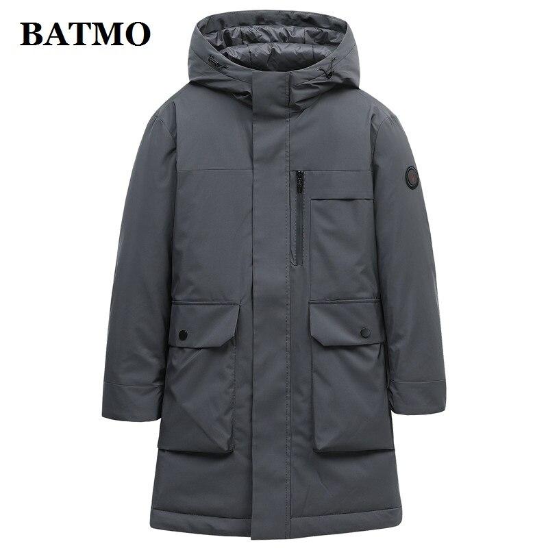BATMO 2019 new arrival winter 90% white duck   down   hooded jackets men,men's   down     coat  ,plus-size M-4XL 9719