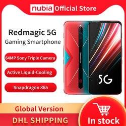 Глобальная версия Nubia Red Magic 5G мобильный телефон 6,65 дюймов Snapdragon 865 NFC игровой телефон WIFI 6 Android 10