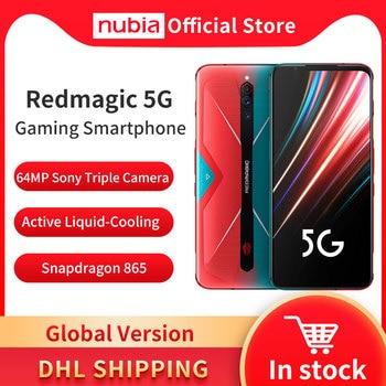 Перейти на Алиэкспресс и купить Глобальная версия Nubia Red Magic 5G мобильный телефон 6,65 дюймов Snapdragon 865 NFC игровой телефон WIFI 6 Android 10
