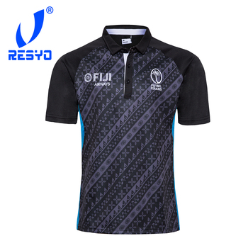 RESYO na 2020 fidżi pamiątkowe wydanie męska Rugby Jersey sportowa koszula S-3XL tanie i dobre opinie NoEnName_Null Krótki Poliester Koszulki 2020 FIJI Pasuje prawda na wymiar weź swój normalny rozmiar