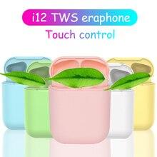 true wireless earbuds New i12 TWS wireless earphones Bluetooth 5.0 wireless blue