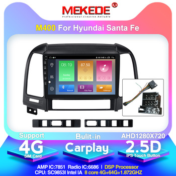 Android 10.0 arrival!Mekede Car Multimedia Player autoradio for Hyundai Santa Fe 2 2006-2012 Built-in carplay DSP IPS 4G image