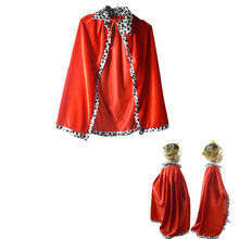 Boys Girls Vampire Witch Devil Cloak King Prince Crown Children CosplayCarnival Birthday Party halloween costume for kids(China)