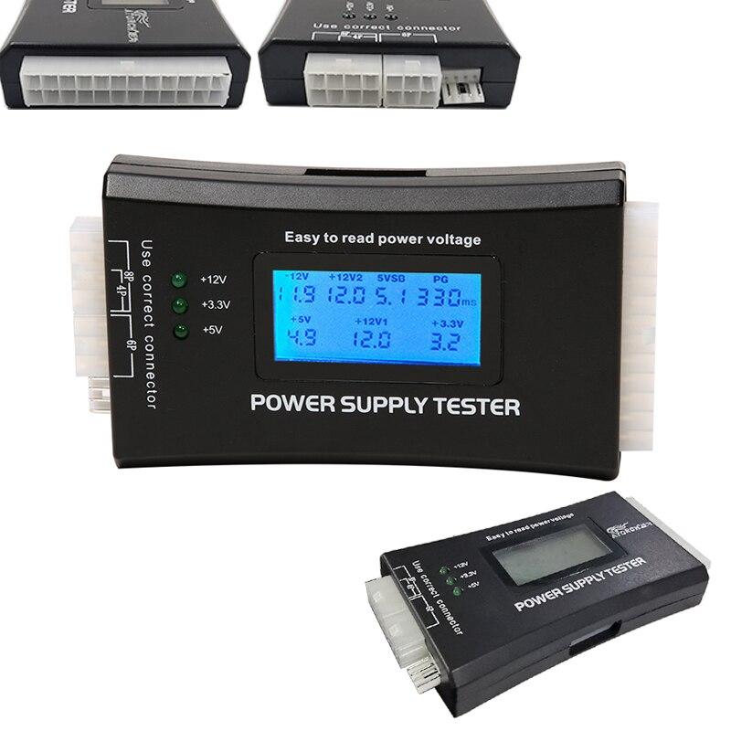 Цифровой ЖК-дисплей пк компьютер 20/24 Pin источник питания проверка тестером Быстрый банк питания измеритель мощности диагностический тестер...