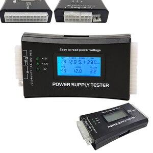 Цифровой ЖК-дисплей пк компьютер 20/24 Pin тестер источника питания Проверка быстрого блока питания Диагностический тестер инструменты