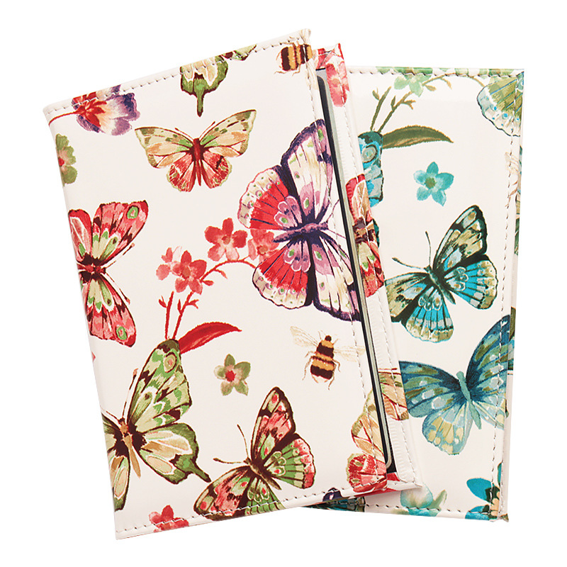 Zoukane Bees Butterfly Flowers PU Leather Passport Cover Case Ticket ID Holder Passport Wallet Clip Travel Accessories ZSPC53