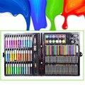 150 шт./компл. рисунок ящик для инструментов с коробкой Картина кисти художественный маркер для воды Цвет ручка Crayon Kids подарок JHP-Best